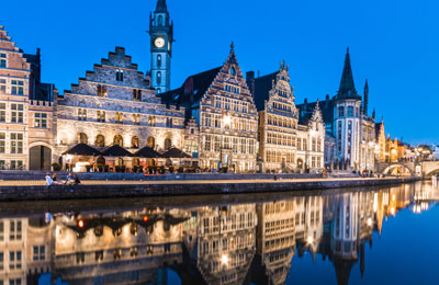 Ghent, Bruges