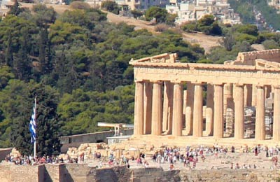 The Parthenon in Greece