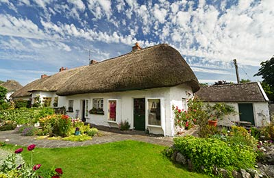 Pretty cottages dot the Irish countryside
