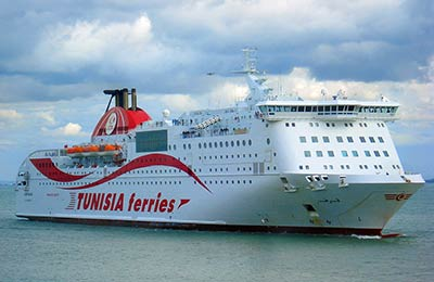Compare ferry companies to Tunisia