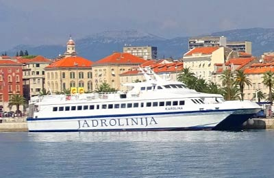 Jadrolinija ferry at Split, Croatia