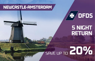 SAVE up to 20% on a 5-Night Newcastle-Amsterdam return crossing!