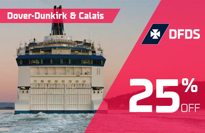 25% Off Ferries to France with DFDS!