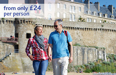 Day trips to France from only £24 per person.