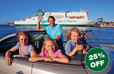 25% off SALE Motorist Fares to Britain and Ireland