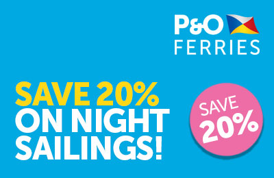 Summer Nights 20% Off Dover-Calais with P&O Ferries